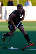 Steve Edwards in action, Black Sticks Men v Junior Black Sticks, Build up match to the BDO World Cup Qualifying Hockey Tournament. Crown Relocations Hockey Stadium, North Harbour, Auckland, New Zealand. 29 October 2009. Photo: William Booth/PHOTOSPORT