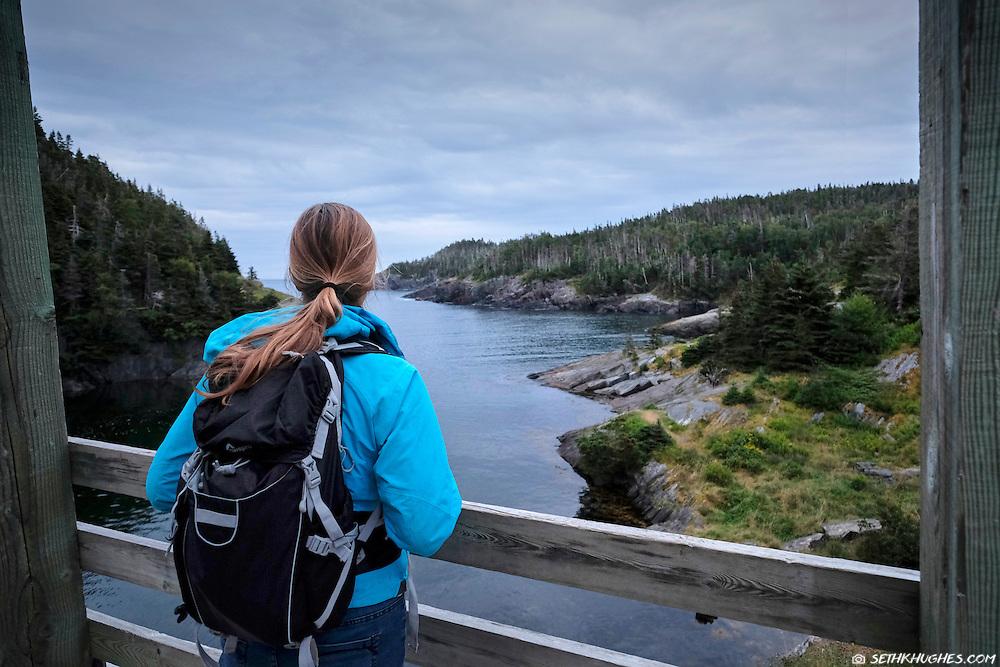 Backpacking the East Coast Trail, La Manche Provincial Park, Avalon Peninsula, Newfoundland, Canada.