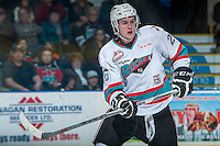 KELOWNA, CANADA - FEBRUARY 6: Cole Linaker #26 of Kelowna Rockets skates against the Calgary Hitmen on February 6, 2016 at Prospera Place in Kelowna, British Columbia, Canada.  (Photo by Marissa Baecker/Shoot the Breeze)  *** Local Caption *** Cole Linaker;