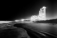 A night time infrared photograph of a hotel on South Padre Island, TX by Kansas City photographer Kirk Decker