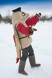 Mascot in Fish Costume Rändur Rääbis in Kolkja, Tartu County, Estonia