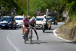 Kasia Niewiadom (Rabo Liv) unclips at Giro Rosa 2016 - Stage 6. A 118.6 km road race from Andora to Alassio, Italy on July 7th 2016.