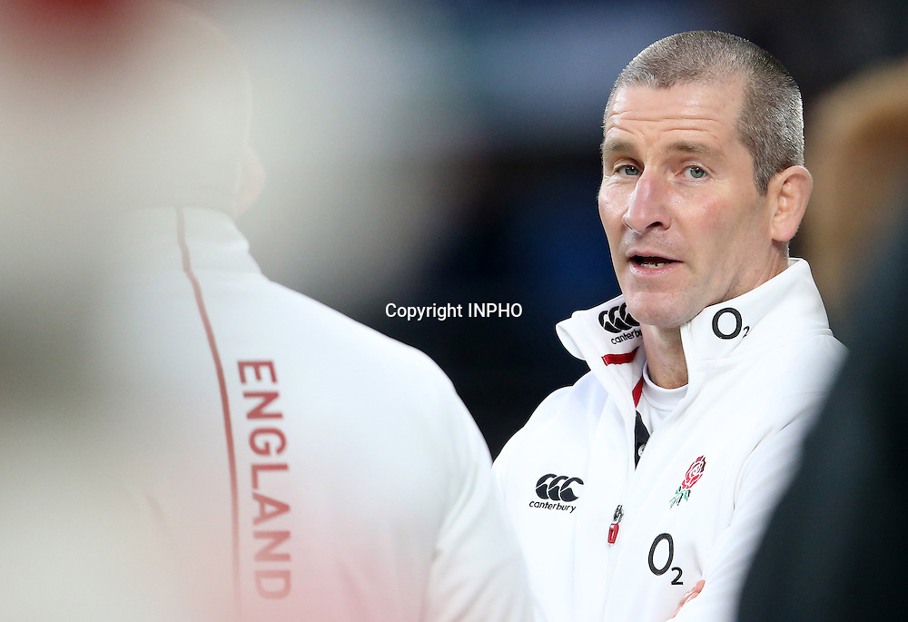 RBS 6 Nations Championship, Twickenham Stadium, London 14/2/2015<br /> England vs Italy <br /> England head coach Stuart Lancaster<br /> Mandatory Credit &copy;INPHO/Cathal Noonan