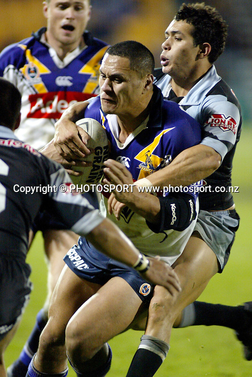 2 August 2003, NRL, New Zealand Warriors vs Melbourne Storm, Ericsson Stadium, Auckland, New Zealand.<br />