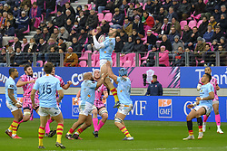 January 5, 2019 - Paris, France - Perpignan Flanker YOHAN VIVALDA in action during the French rugby championship Top 14 match between Stade Francais and  Perpignan at Jean Bouin Stadium in Paris - France..Stade Franais won 27-8 (Credit Image: © Pierre Stevenin/ZUMA Wire)