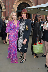 Left to right, KATE MOSS and JANET STREET-PORTER at the V&A Summer Party in association with Harrod's held at The V&A Museum, London on 22nd June 2016.
