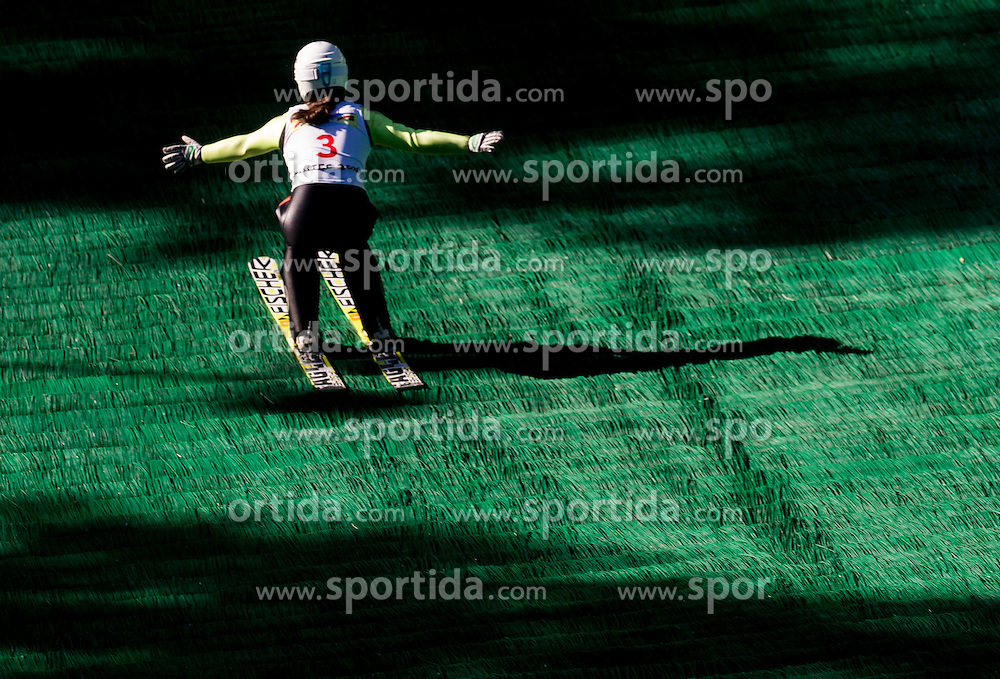 Maja Vtič (SLO) during Ski jumping Summer cup - 45. Revija skokov Mostec on June 4, 2016 in Mostec hill, Ljubljana, Slovenia.Photo by Vid Ponikvar / Sportida