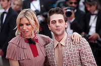 Actress Sienna Miller and director Xavier Dolan at the gala screening for the film Macbeth at the 68th Cannes Film Festival, Saturday 23rd May 2015, Cannes, France.