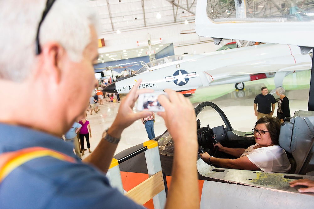 AURORA, CO - JUNE 14: Amazing Adventures Travel and Leisure Expo at Wings Over the Rockies Air and Space Museum on {month name} 14, 2014 in Aurora, Colorado. (Photo by Daniel Petty/The Denver Post)