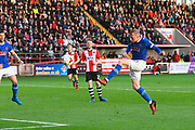Nicky Adams (10) of Carlisle United shoots over the goal during the EFL Sky Bet League 2 play off second leg match between Exeter City and Carlisle United at St James' Park, Exeter, England on 18 May 2017. Photo by Graham Hunt.