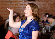 """Heather Gorby during Mayhem & Mystery's production of """"Tragedy in the Theater"""" at the Spaghetti Warehouse in downtown Dayton, Monday, February 28, 2011."""
