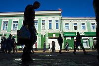 Russie, Siberie, Fédération de Irkoutsk, Irkoutsk, la rue pietonne Ouritskovo// Russia, Siberia, rkutsk, Ouritskovo shopping street