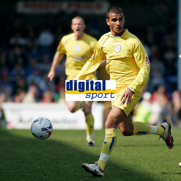 Photo: Mike Greenslade..Cardiff City v Sheffield Wednesday..Coca Cola Championship League..07.04.07..Ninian Park..KO 3pm...Owls wideman Marcus Tudgay looks for options
