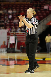 10 February 2013:  referee Katie Lukanich during an NCAA women's basketball game where the Creighton Bluejays lost to the Illinois Sate Redbirds 66-60 at Redbird Arena in Normal IL