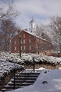 Winter at Ohio Univeristy's Cutler Hall. Photo by Jonathan Adams