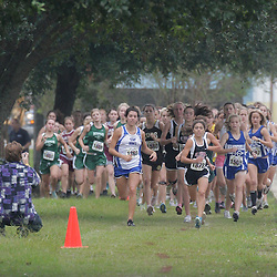 2008 October 22:  Participants run during a cross country meet on the campus of St. Thomas Aquinas High School in Hammond, LA.