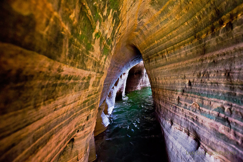 up close, seacave, Pictured Rocks