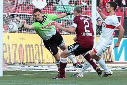 22.10.2011, easy Credit Stadion, Nuernberg, GER, 1.FBL, 1. FC Nürnberg / Nuernberg vs VfB Stuttgart, im Bild:.Kopfballtor durch Philipp Wollscheid (Nuernberg #38) (nicht im Bild).// during the Match GER, 1.FBL, 1. FC Nürnberg / Nuernberg vs VfB Stuttgart on 2011/10/22, easy Credit Stadion, Nuernberg, Germany..EXPA Pictures © 2011, PhotoCredit: EXPA/ nph/  Will       ****** out of GER / CRO  / BEL ******