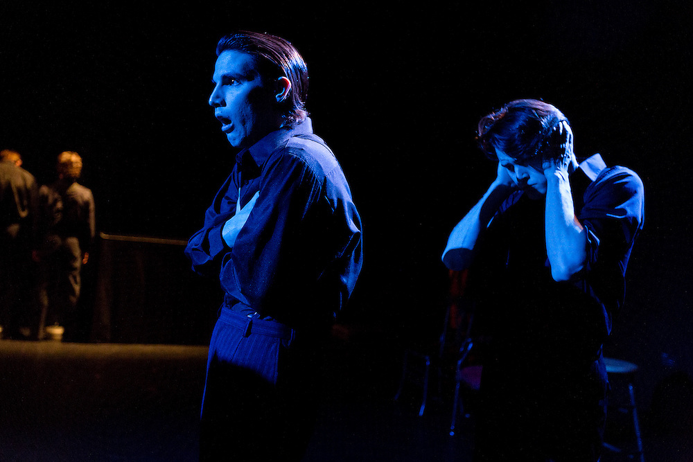 """University of Minnesota BFA student production of """"Those Who Favor Fire"""" in Dowling Studio, Thursday, April 18, 2013."""