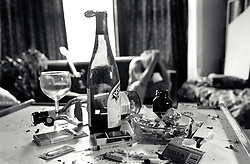 Drugs & drink detritus, UK 1990