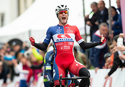 Marko Kump of KK Adria Mobil celebrates after winning during cycling race 5th Grand Prix Adria Mobil, on April 7, 2019, in Slovenia. Photo by Vid Ponikvar / Sportida