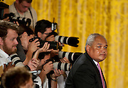 Aug 6, 2010 - Washington, District of Columbia, U.S., -  THURGOOD MARSHALL JR. arrives for a reception hosted by President Obama in the White House East room in honor of Elana Kagan.(Credit Image: © Pete Marovich/ZUMA Press)