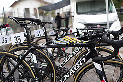 Snacks are ready for Martina Ritter (AUT) of Wiggle Hi5 Cycling Team before the Trofeo Alfredo Binda - a 131,1 km road race, between Taino and Cittiglio on March 18, 2018, in Varese, Italy. (Photo by Balint Hamvas/Velofocus.com)