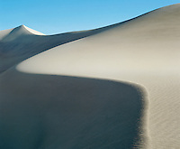 Curved ridge of sand dune