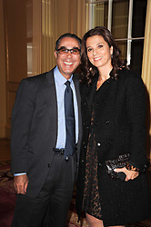 DAVID KHALILI and his wife MARRION KHALILI at a reception hosted by Films Without Borders at the Lanesborough Hotel, Hyde Park Corner, London on 27th October 2010.