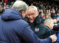 Football - 2018 / 2019 Premier League - Crystal Palace vs. Fulham<br /> <br /> Fulham Manager, Claudio Ranieri,is greeted by Palace Manager, Roy Hodgson at Selhurst Park.<br /> <br /> COLORSPORT/ANDREW COWIE