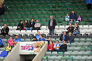 Travelling Hartlepool fans in the stand during the EFL Sky Bet League 2 match between Plymouth Argyle and Hartlepool United at Home Park, Plymouth, England on 24 September 2016. Photo by Graham Hunt.