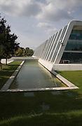 NAPP pharmaceutical group building architect Arthur Erickson, Cambridge Science Park, Cambridge, England completed in the 1980s.