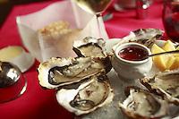oysters at Villa MArgot restaurant, Quiberon, Btittany