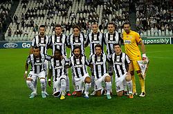 02-10-2012 VOETBAL: UEFA CL JUVENTUS - SHAKHTAR DONETSK: TURIJN<br /> Juventus team line up<br /> ***NETHERLANDS ONLY***<br /> ©2012-FotoHoogendoorn.nl-Federico Tardito