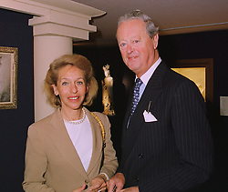 The DUKE & DUCHESS OF MARLBOROUGH at a reception in London on 10th June 1998.MIE 23