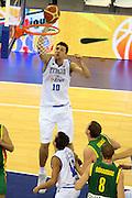 DESCRIZIONE : Madrid Spagna Spain Eurobasket Men 2007 Italia Lituania Itlay Lithuania<br /> GIOCATORE : Andrea Bargnani<br /> SQUADRA : Italia Italy <br /> EVENTO : Eurobasket Men 2007 Campionati Europei Uomini 2007 <br /> GARA : Italia Lituania Italy Lithuania<br /> DATA : 08/09/2007 <br /> CATEGORIA : Tiro <br /> SPORT : Pallacanestro <br /> AUTORE : Ciamillo&amp;Castoria/G.Ciamillo<br /> Galleria : Eurobasket Men 2007 <br /> Fotonotizia : Madrid Spagna Spain Eurobasket Men 2007 Italia Lituania Italy Lithuania<br /> Predefinita :