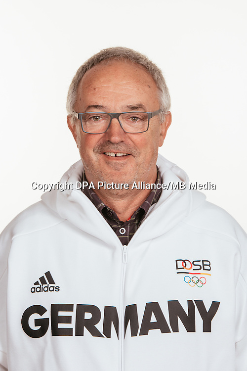 Wolfgang Heinig poses at a photocall during the preparations for the Olympic Games in Rio at the Emmich Cambrai Barracks in Hanover, Germany, taken on 14/07/16 | usage worldwide