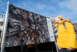 Edinburgh, Scotland, UK. 20 March, 2019. The  opening of a major outdoor photography exhibition highlighting the impact humans have on the natural world, called  A Human Touch, in front of the Scottish Parliament as part of Edinburgh Science Festival.
