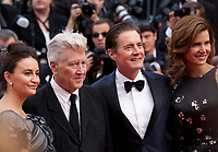 Emily Stofle, David Lynch, Kyle MacLachlan and Desiree Gruber at Twin Peaks gala screening at the 70th Cannes Film Festival Thursday 25th May 2017, Cannes, France. Photo credit: Doreen Kennedy
