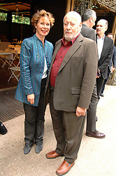 SIR CLEMENT FREUD and actress CELIA IMRIE at a lunch party to celebrate the publication of David Conville's book The Park, held at Regent's Park Open Air Theatre, London o  6th June 2007.<br />