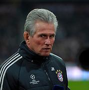 13.03.2013, Fussball Champions League Achtelfinale Rückspiel: FC Bayern München - FC Arsenal London, In der Allianz-Arena München. Trainer Jupp Heynckes (Bayern München)
