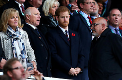 HRH Prince Harry attends England v Argentina at Twickenham - Mandatory by-line: Robbie Stephenson/JMP - 11/11/2017 - RUGBY - Twickenham Stadium - London, England - England v Argentina - Old Mutual Wealth Series