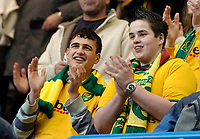 Photo: Leigh Quinnell.<br /> Chelsea v Norwich City. The FA Cup. 17/02/2007.<br /> Norwich fans welcome the team.