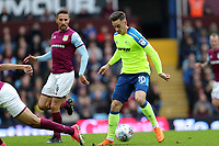Aston Villa v Derby County - Sky Bet Championship<br /> BIRMINGHAM, ENGLAND - APRIL 28 :  Tom Lawrence, of Derby County gets on the ball against Aston Villa