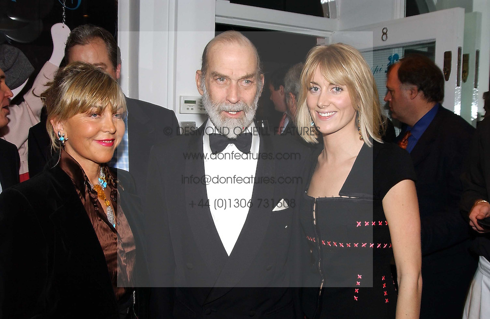 Left to right,ROSIE, MARCHIONESS OF NORTHAMPTON,HRH PRINCE MICHAEL OF KENT and LADY EMILY COMPTON at a party to celebrate the opening of children's store Chippi Hacki at 8 Motcomb Street, London, SW1 on 24th November 2004.<br />