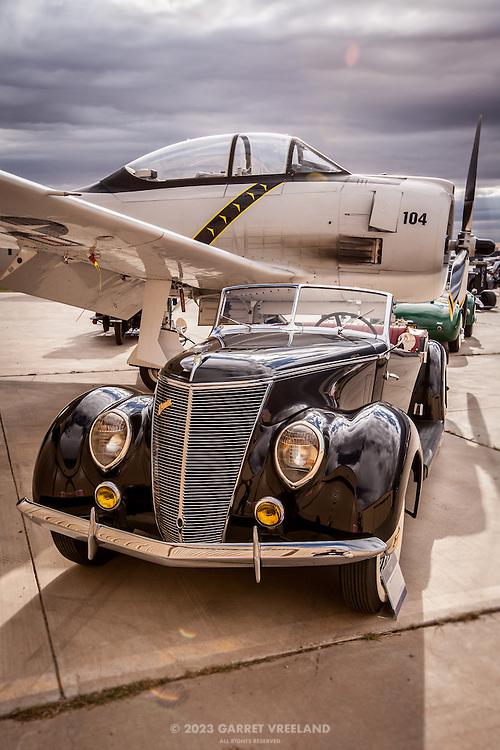 1937 Ford Darrin and T-28 Trojan, Planes and Cars at the Santa Fe Airport, 2013 Santa Fe Concorso.