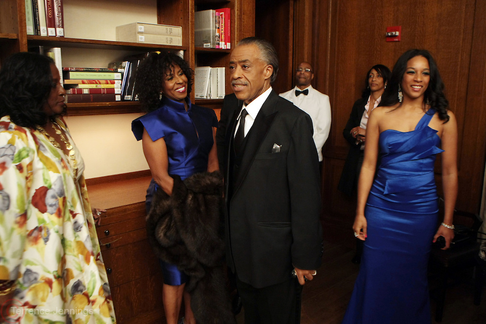 New York, NY-April 18: (L-R) Actress/Television Producer LaTanya Richardson, Honoree Actress Pauletta Washington, Rev. Al Sharpton, Founder & President, NAN and Janeye Ingram, Washington Bureau Chief, NAN attend Rev. Al Sharpton's National Action Network's Keeper of the Dream Awards held at Cipriani's Wall Street on April 18, 2012 in New York City. (Photo by Terrence Jennings)