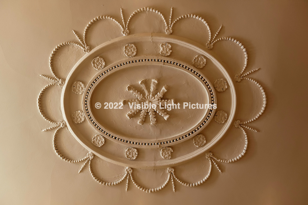 Ceiling rossette in a classic home