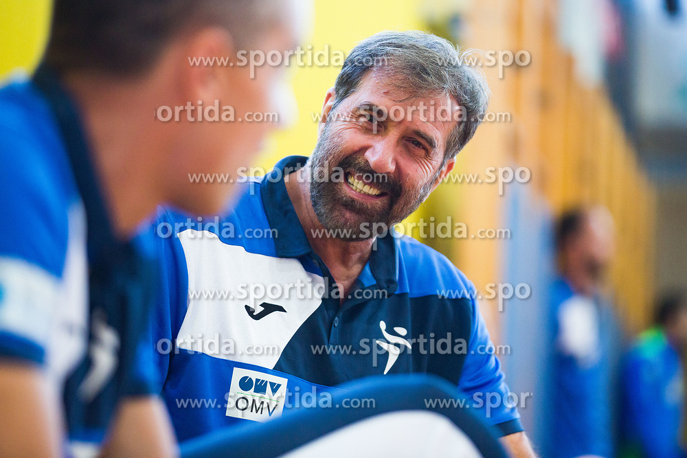 Slo head coach Veselin Vujocic during friendly match between Slovenia and Austria in Cerklje na Gorenjskem, Slovenia on 8th of June, 2019 .Photo by Peter Podobnik / Sportida