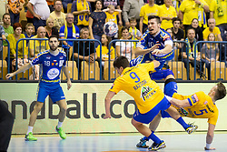 Alex Dujshabaev Dovichebaeva of PGE Vive Kielce during handball match between RK Celje Pivovarna Lasko and PGE Vive Kielce in Group Phase A+B of VELUX EHF Champions League, on September 30, 2017 in Arena Zlatorog, Celje, Slovenia. Photo by Urban Urbanc / Sportida